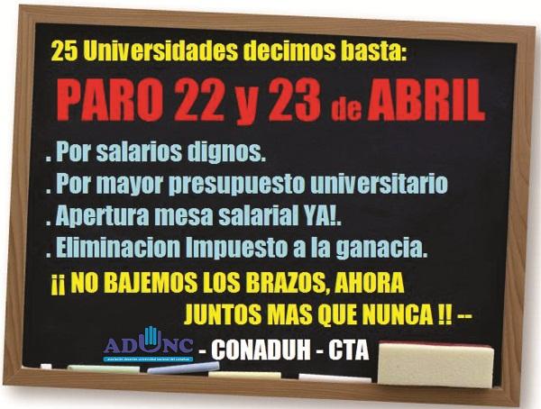 AFICHE PARO DEL 22 Y 23 ADUNC PARA WEB