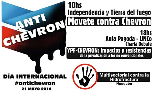 afiche contra chevron 21 de mayo