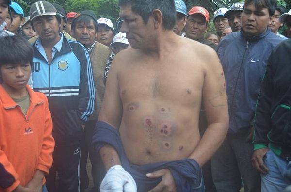REPRESION EN CHACO 04.06.2014