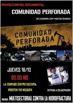 PRESENTACION FILM COMUNIDAD PERFORADA 16.10.2014