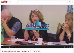 video Plenario de Sec. Grales del 23.04.2015