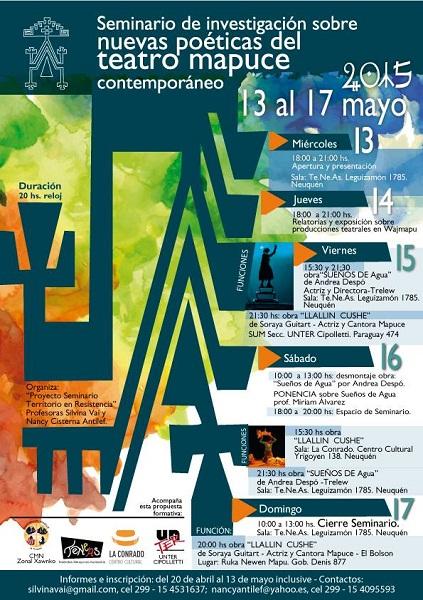 Afiche Seminario nuevas poeticas del teatro mapuce