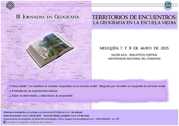 Jornadas de Geocolor afiche web