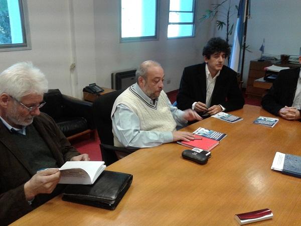 Paritarios Parte Empleadora: Jugeit, Fernandez y Sguazzinni -Izq. a derecha-