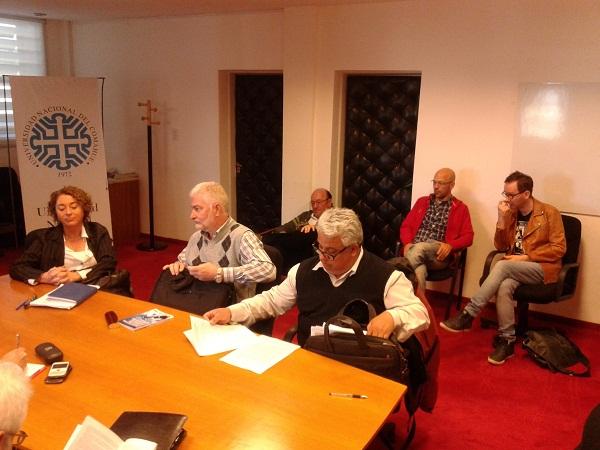 Paritarixs Representación sindical: Trpin, Tiscornia, Álvarez - Izq. a Der.-