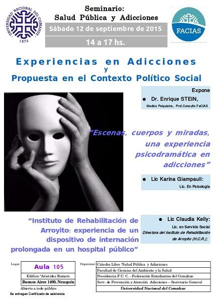 Afiche Actividad Catedra de Adicciones 12092015