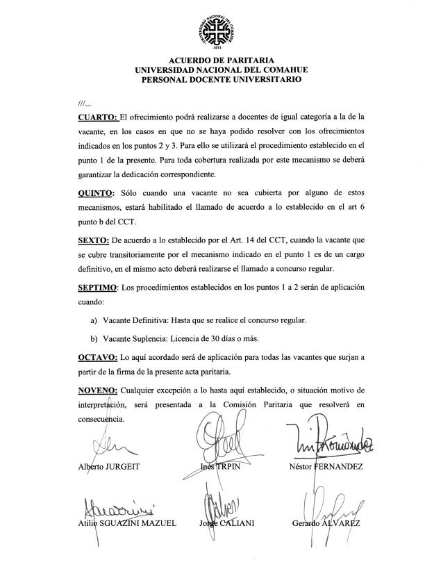 2015-11-18 Acta Paritaria Docente ADUNC Art. 14 cobertura de cargos Decreto 1246-15_004