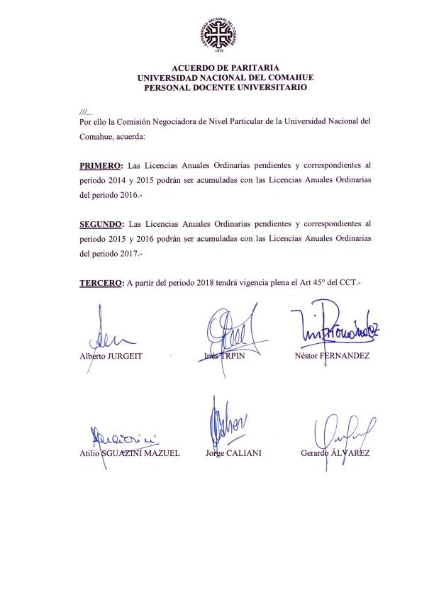 2015-11-20 Acta Paritaria Docente ADUNC Art. 45 modificacion Decreto 1246-15_002