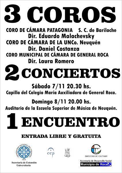 Afiche  3 COROS